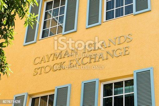 istock Cayman Island Stock Exchange - Grand Cayman Island 827671428