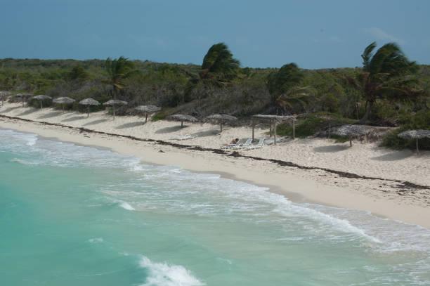 Cayo Las Brujas Beach Following the Rain stock photo