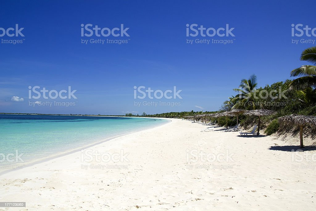 Cayo Santa María or Las Brujas. stock photo