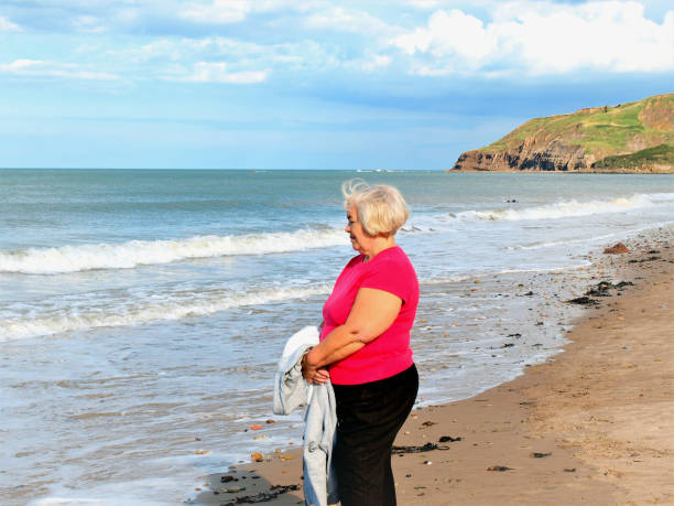 Cayton bay, Scarborough, Yorkshire, UK. stock photo