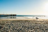 Cayucos, San Luis Obispo County, California. Waterfront along the charming coastal town.