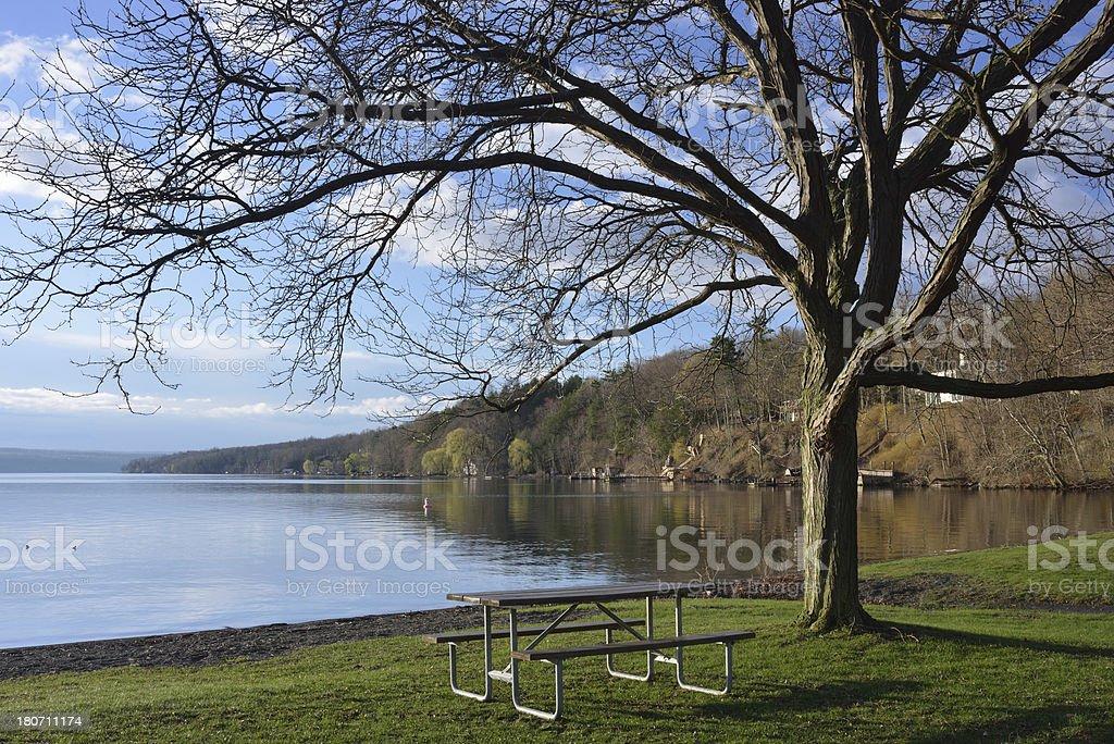Cayuga Lake stock photo