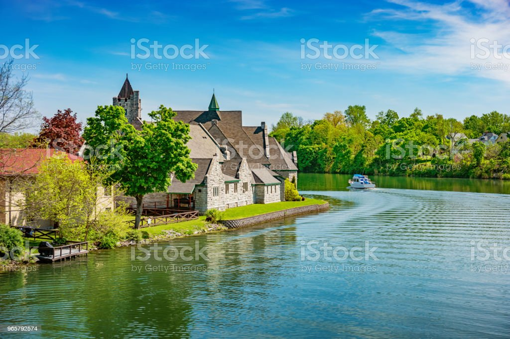 Cayuga–Seneca Canal in Seneca Falls New York State USA - Royalty-free Antigo Foto de stock