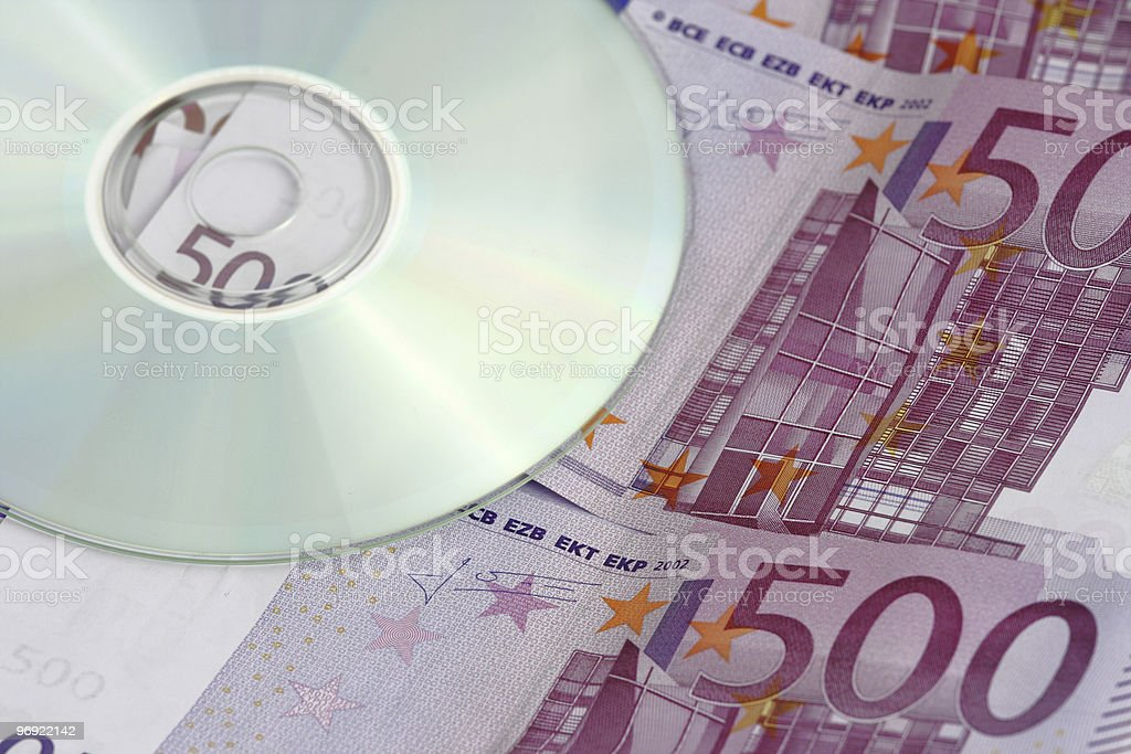 cd and money royalty-free stock photo