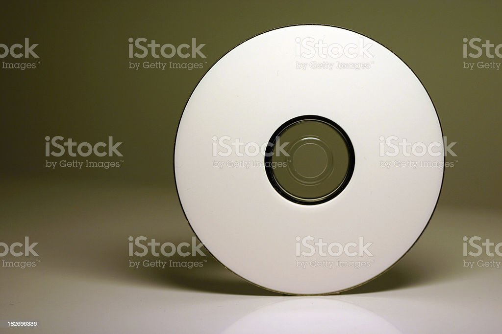 cd with reflection royalty-free stock photo