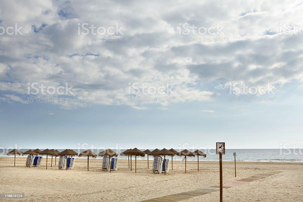 Cádiz Beach stock photo
