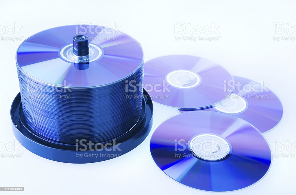 CDs or DVDs royalty-free stock photo