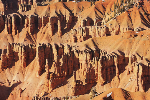 Eroded badland canyon landscape of Cedar Breaks National Monument, Utah, 2009.
