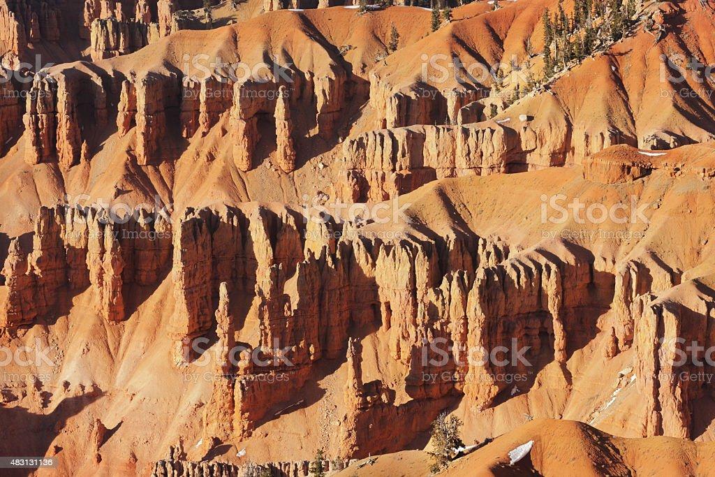 Cedar Breaks National Monument Badlands Canyon stock photo
