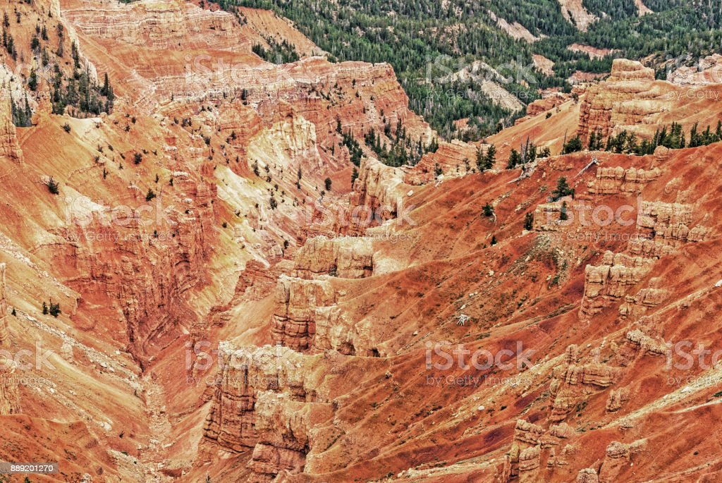 Cedar Breaks National Monument Colorful with Eroded Rocks stock photo