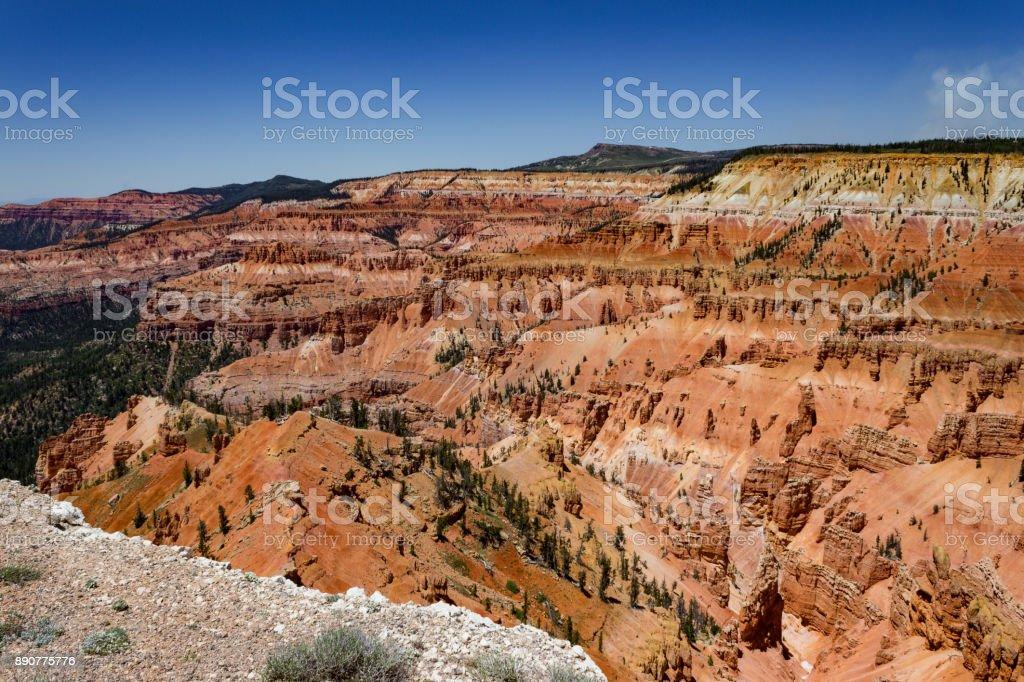 Cedar Breaks National Monument on a clear summer's day stock photo
