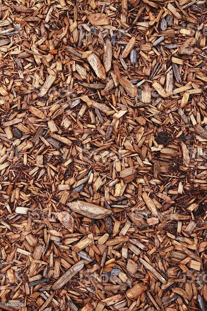 Cedar Chips Closeup stock photo