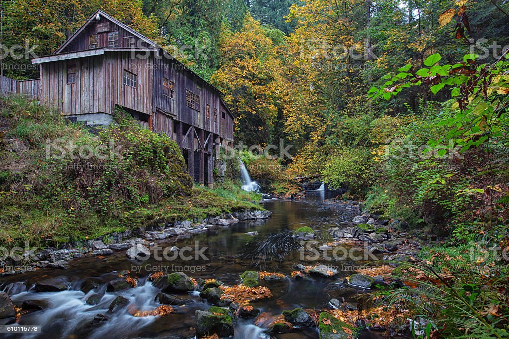 Cedar Creek Grist Mill stock photo