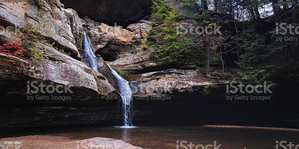 Cedar falls at hocking hills stock photo