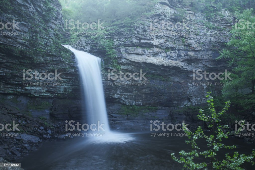 Cedar falls flowing after rain stock photo