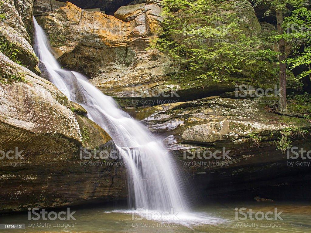 Cedar Falls - Hocking Hills Waterfall stock photo