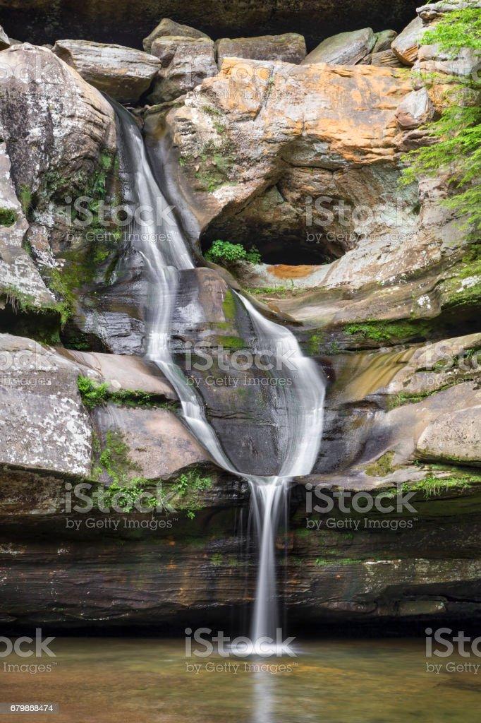 Cedar Falls in the Hocking Hills stock photo