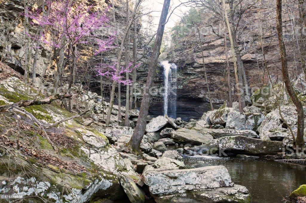 Cedar falls in the spring stock photo