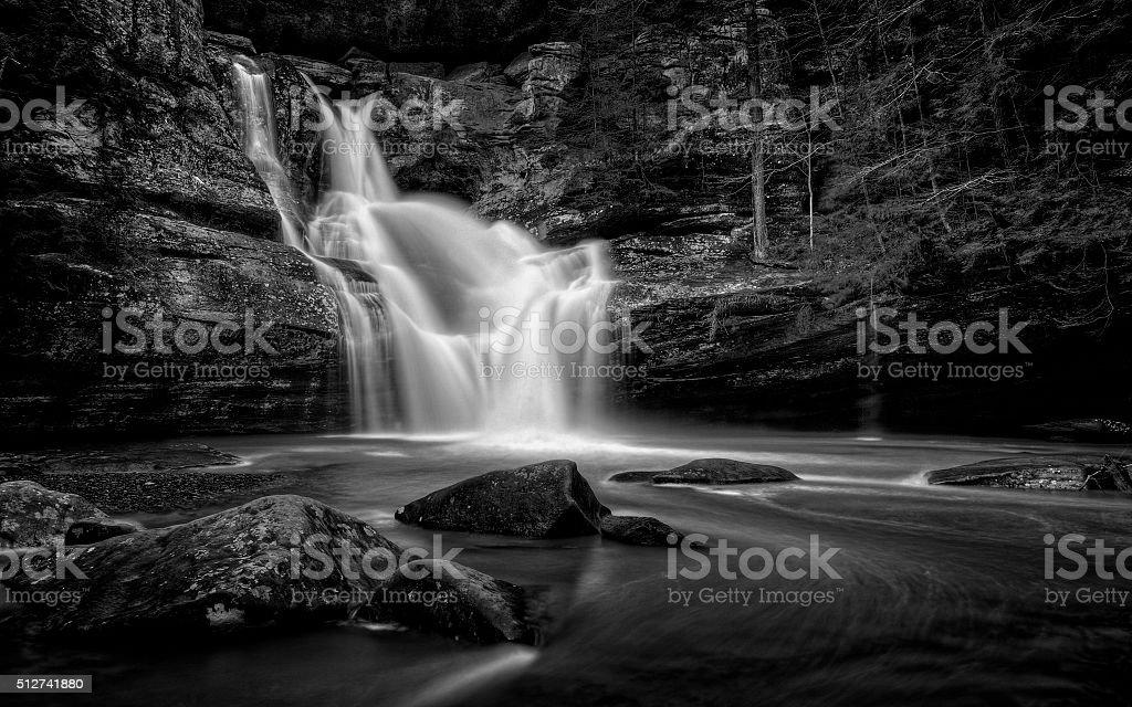 Cedar Falls Ohio Black and White stock photo