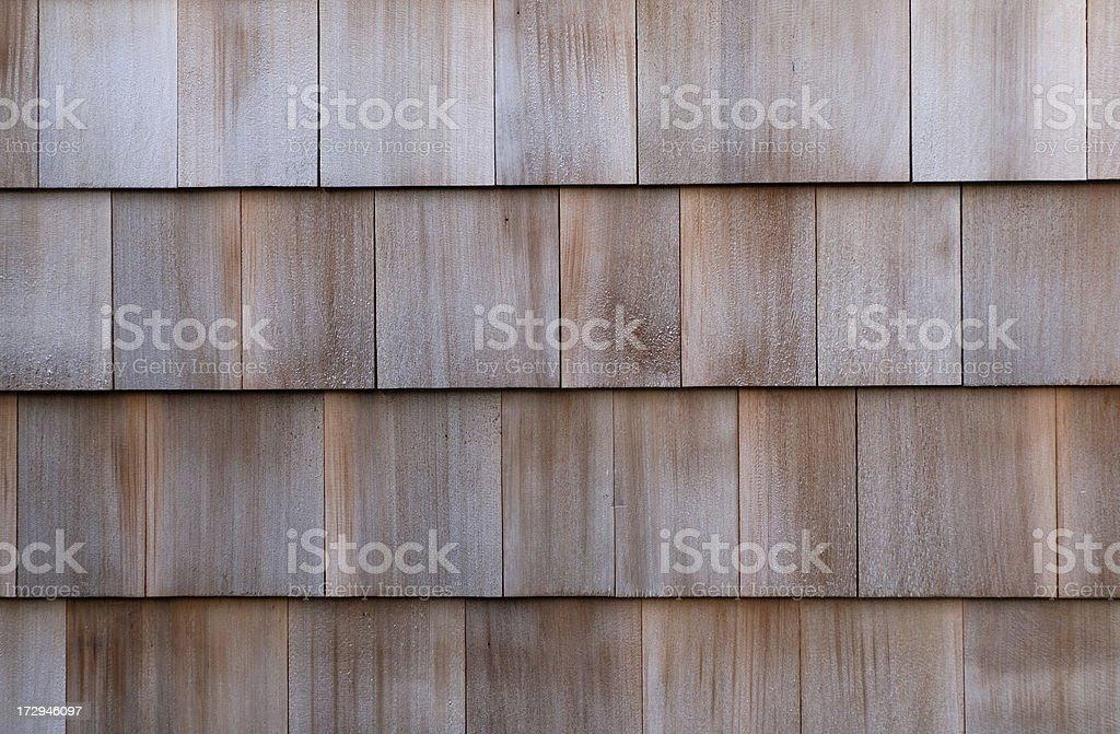Cedar Shingles stock photo