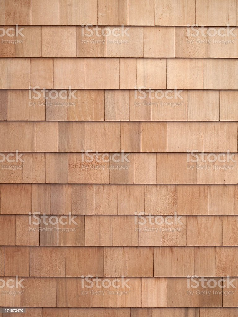 Cedar Shingles royalty-free stock photo