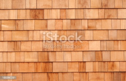 New cedar siding shingles make an attractive background.