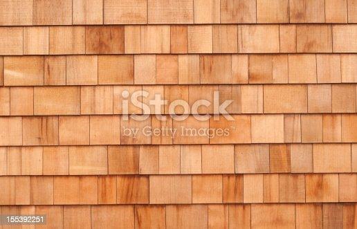 New cedar siding shingles make an attractive background.