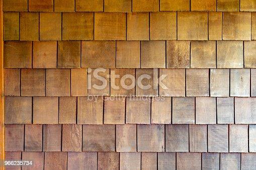 Old wooden house cedar siding