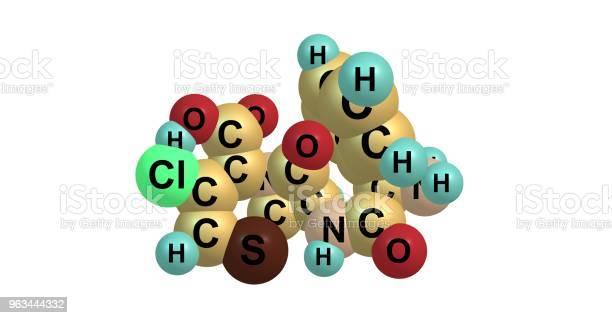 Struktura Molekularna Cefaclor Wyizolowana Na Białym - zdjęcia stockowe i więcej obrazów Antybiotyk