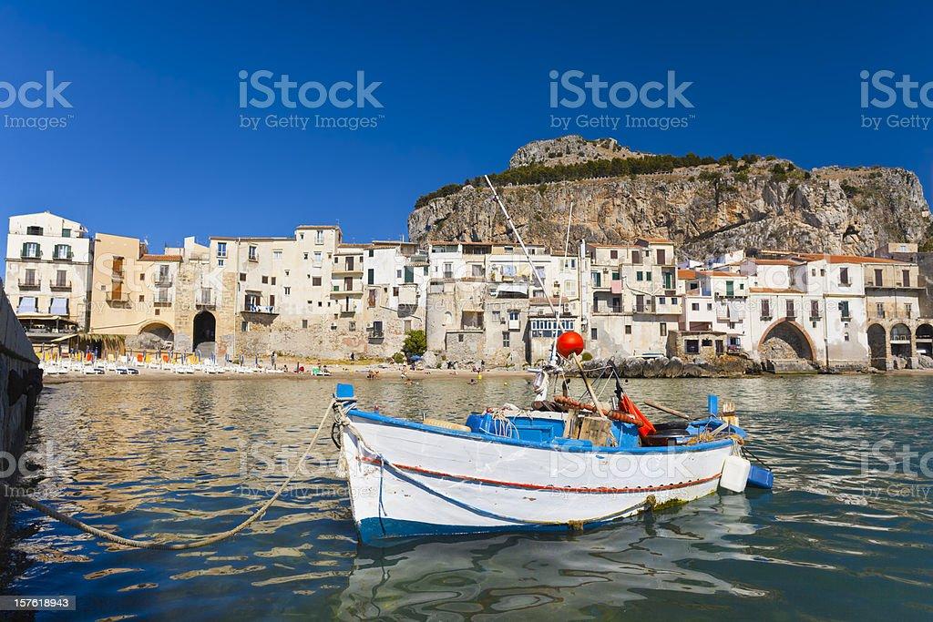 Cefalu, Sicily, Italy. stock photo