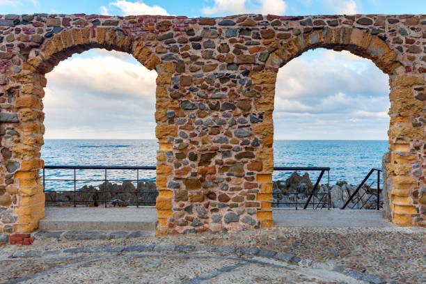 Cefalu. Sicily. Old city. stock photo