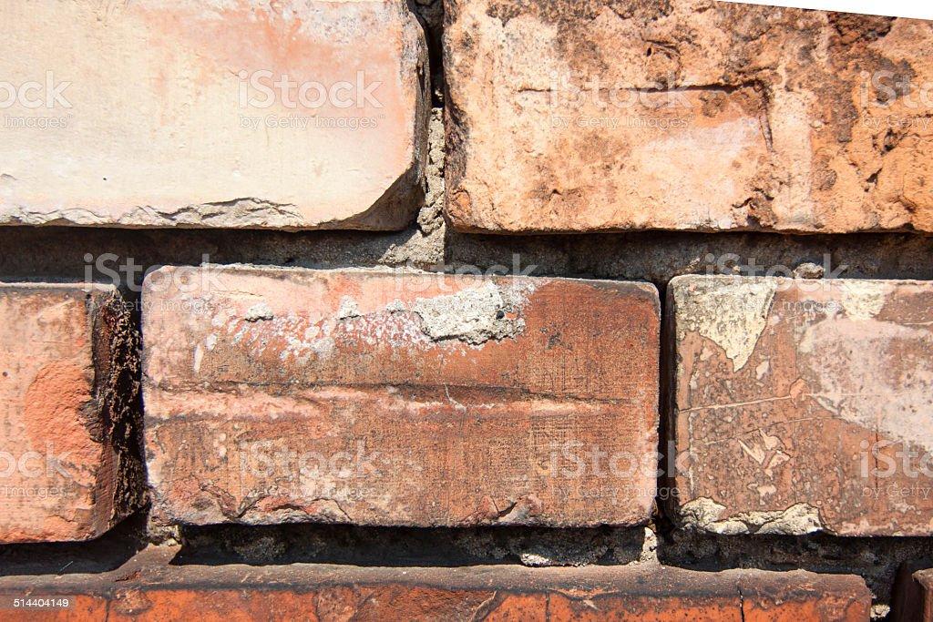 Ceglany mur stock photo