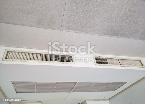 1132163701 istock photo Ceiling air box in the hotel room 1144050839