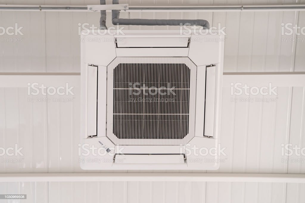 Ceiling aircondition . stock photo