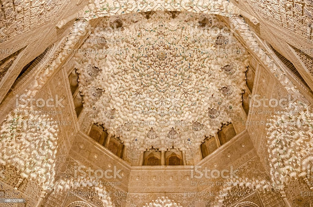 Ceiling Alhambra stock photo