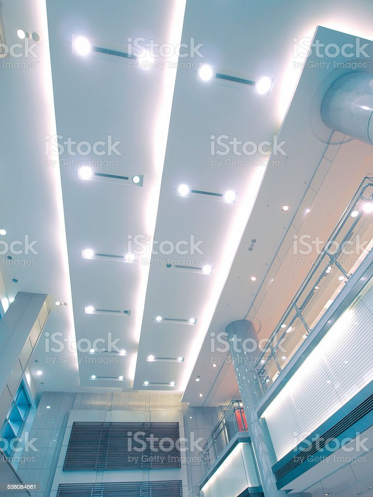 Ceiling ang lights stock photo