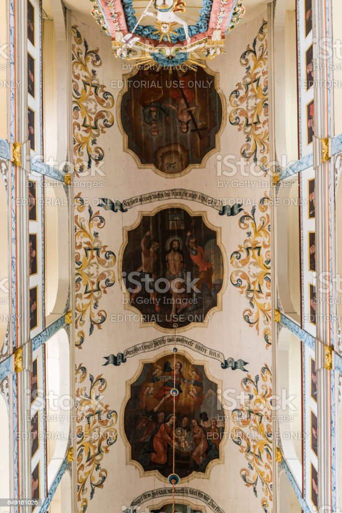 Ceiling Church Dornburg Germany stock photo