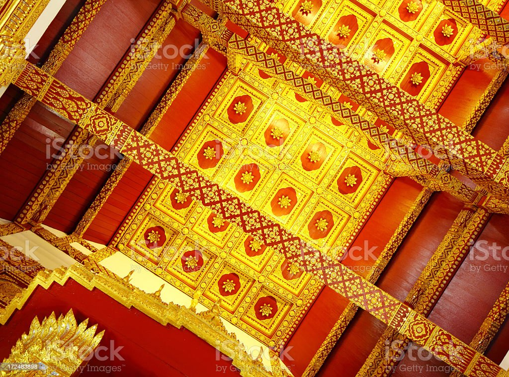 Ceiling decoration with Thailand Style royalty-free stock photo