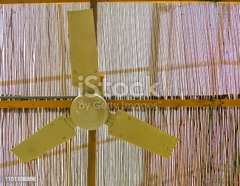 istock ceiling fan hanging on the roof, basic cooling system for tropical and warm climates 1151156956