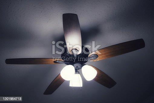Ceiling fan in a room