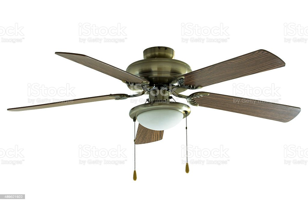 ceiling fan isolated on white stock photo