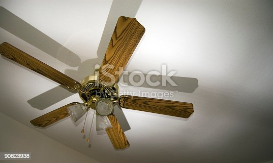 Ceiling fan with stong shadow