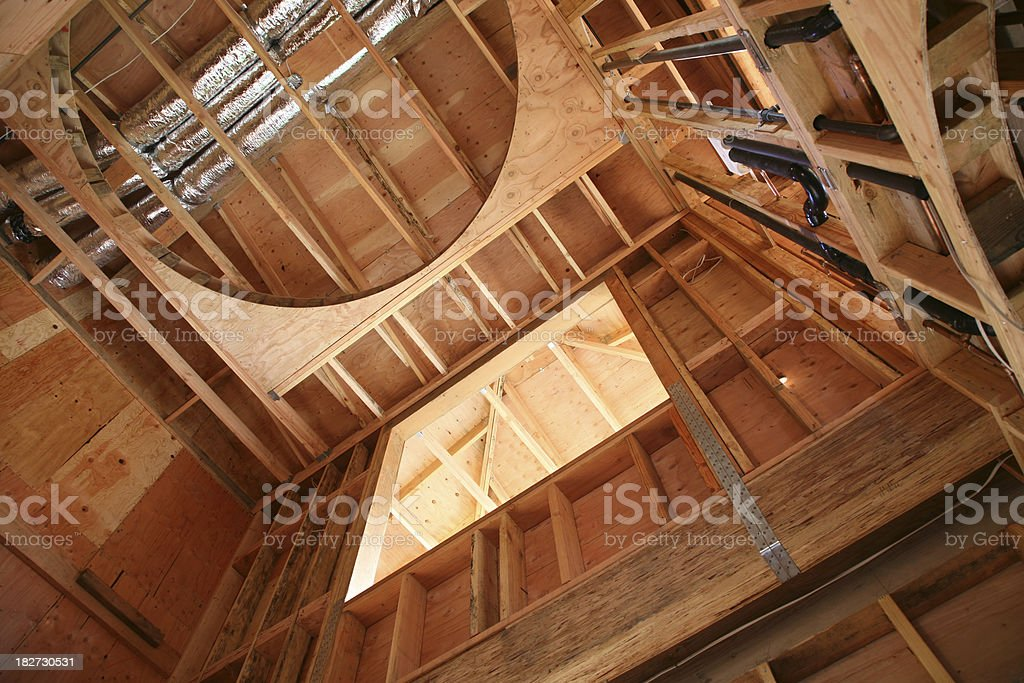 Ceiling Framing and Construction stock photo