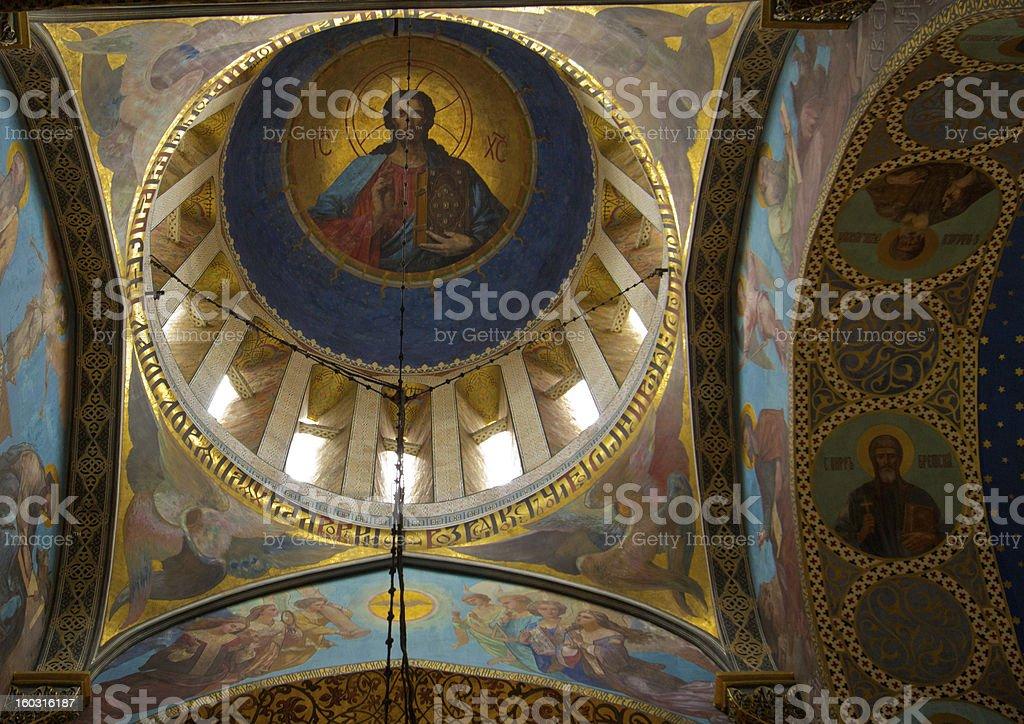 Ceiling Frescos in Church, Tbilisi, Georgia royalty-free stock photo