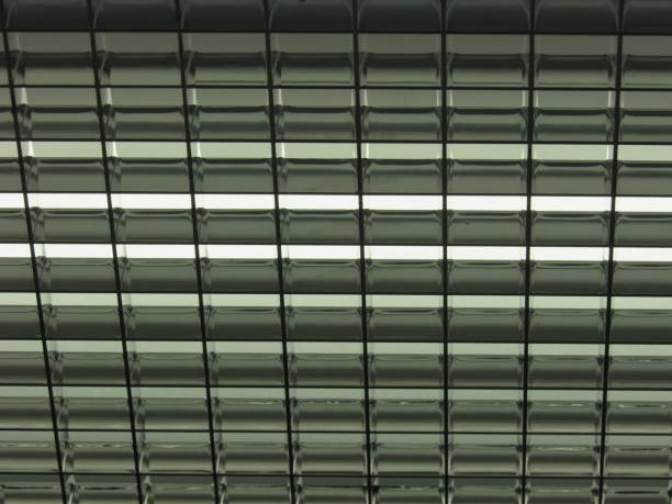 Ceiling Grate in Elevator stock photo