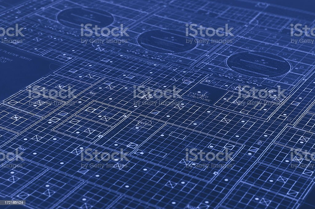 Ceiling Grid Blueprint royalty-free stock photo