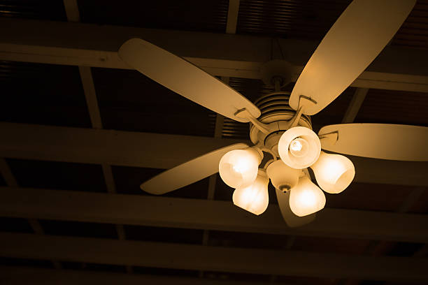 ceiling lamp and fan vintage deco ceiling lamp and fan ceiling fan stock pictures, royalty-free photos & images
