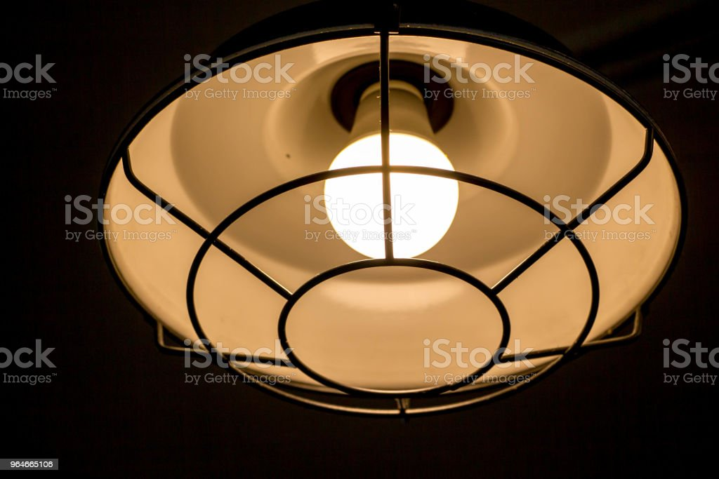 ceiling lamp in dark royalty-free stock photo