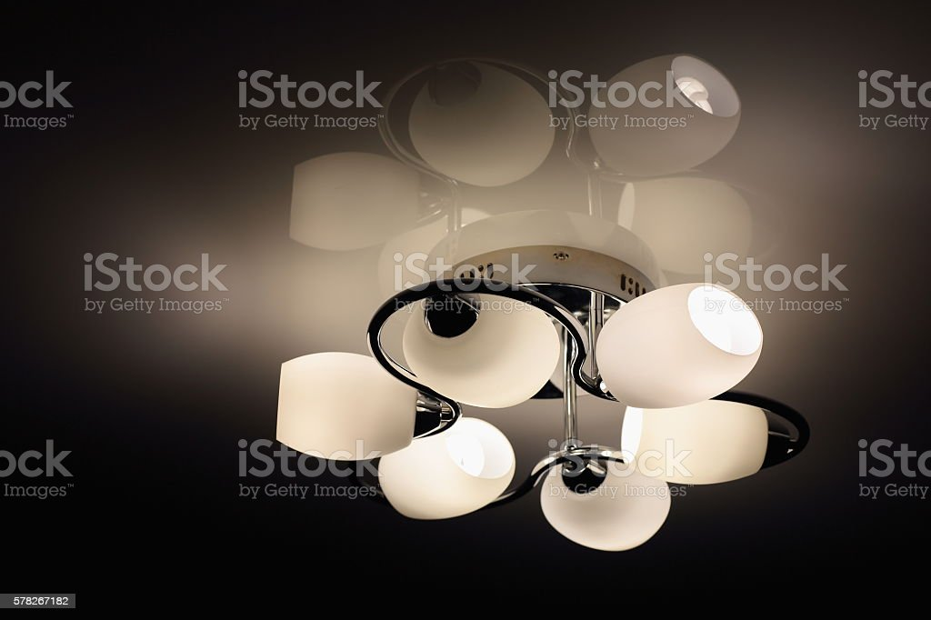 Ceiling light stock photo