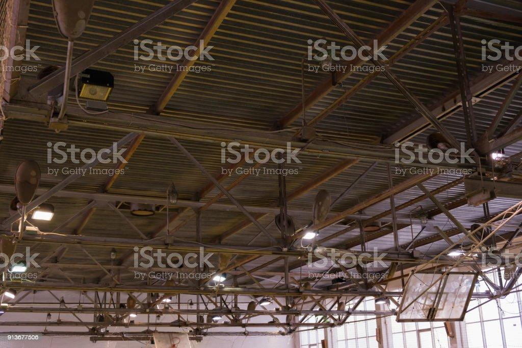 Deckenbeleuchtung Fussball Auf Futsal Ball Feld In Der